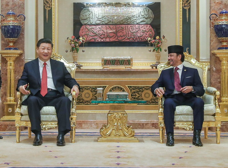 China, Brunei issue joint statement, pledging to advance cooperation