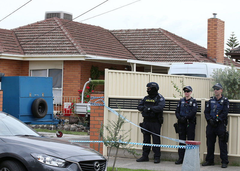 Three charged over alleged Melbourne terror plot