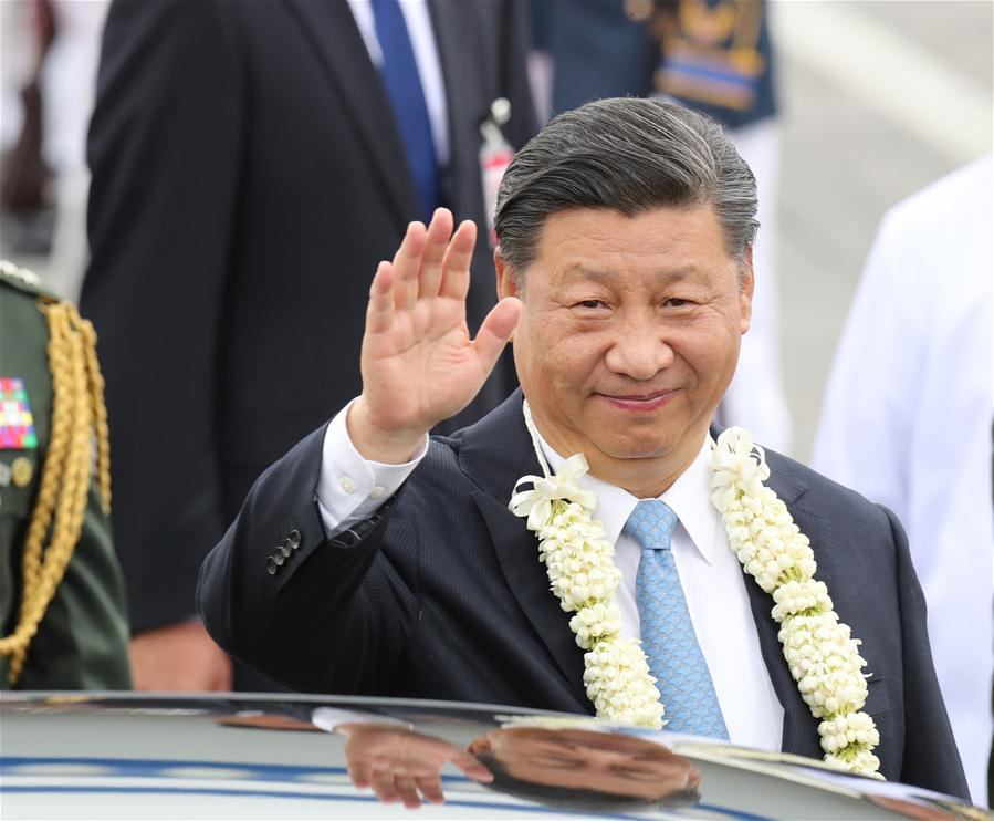 Xi arrives in Philippines for state visit
