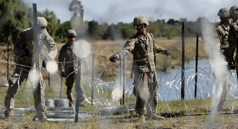 Pentagon says troops at US border to cost about $210 million
