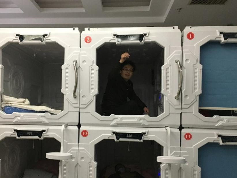 Free capsule hotel for patients' families wins praise