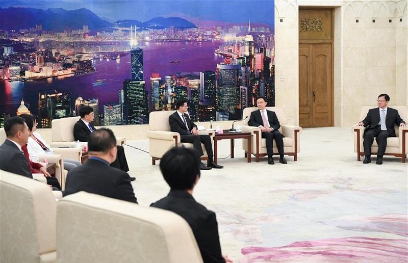 Vice Premier Han Zheng meets with Hong Kong delegation