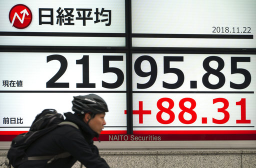 Asian stocks mostly higher following Wall Street recovery