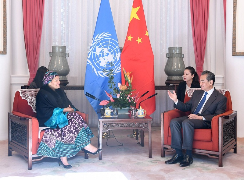 Chinese State Councilor meets UN deputy chief
