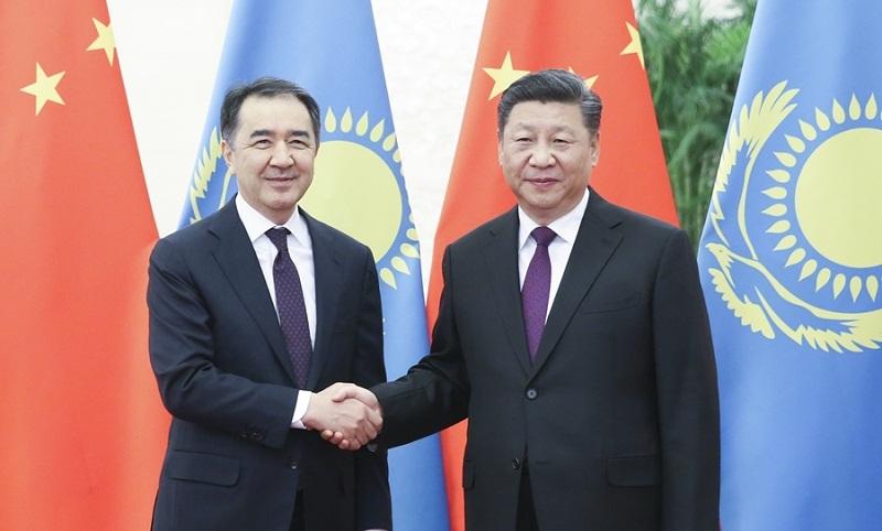 President Xi Jinping meets Kazakh PM