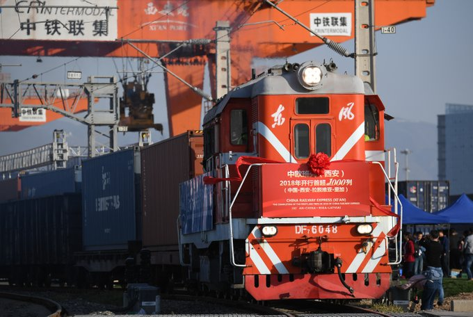 Xi'an launches more China-Europe freight train in 2018