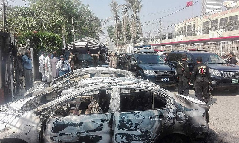 China strongly condemns attack on Chinese consulate in Karachi
