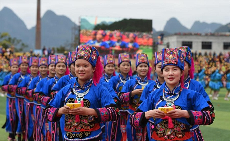 Traditional costumes reflect diversified ethnic cultures in Guangxi