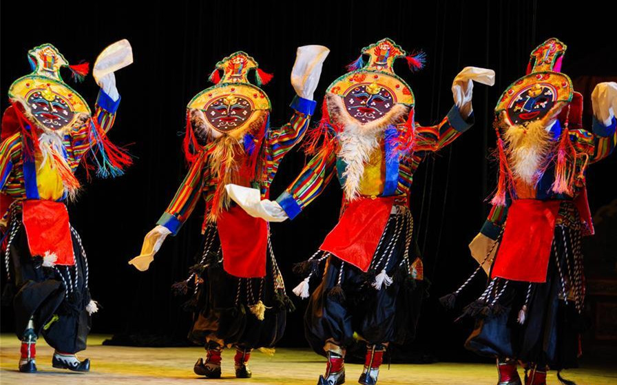 Tibetan opera performed in Lhasa, southwest China's Tibet