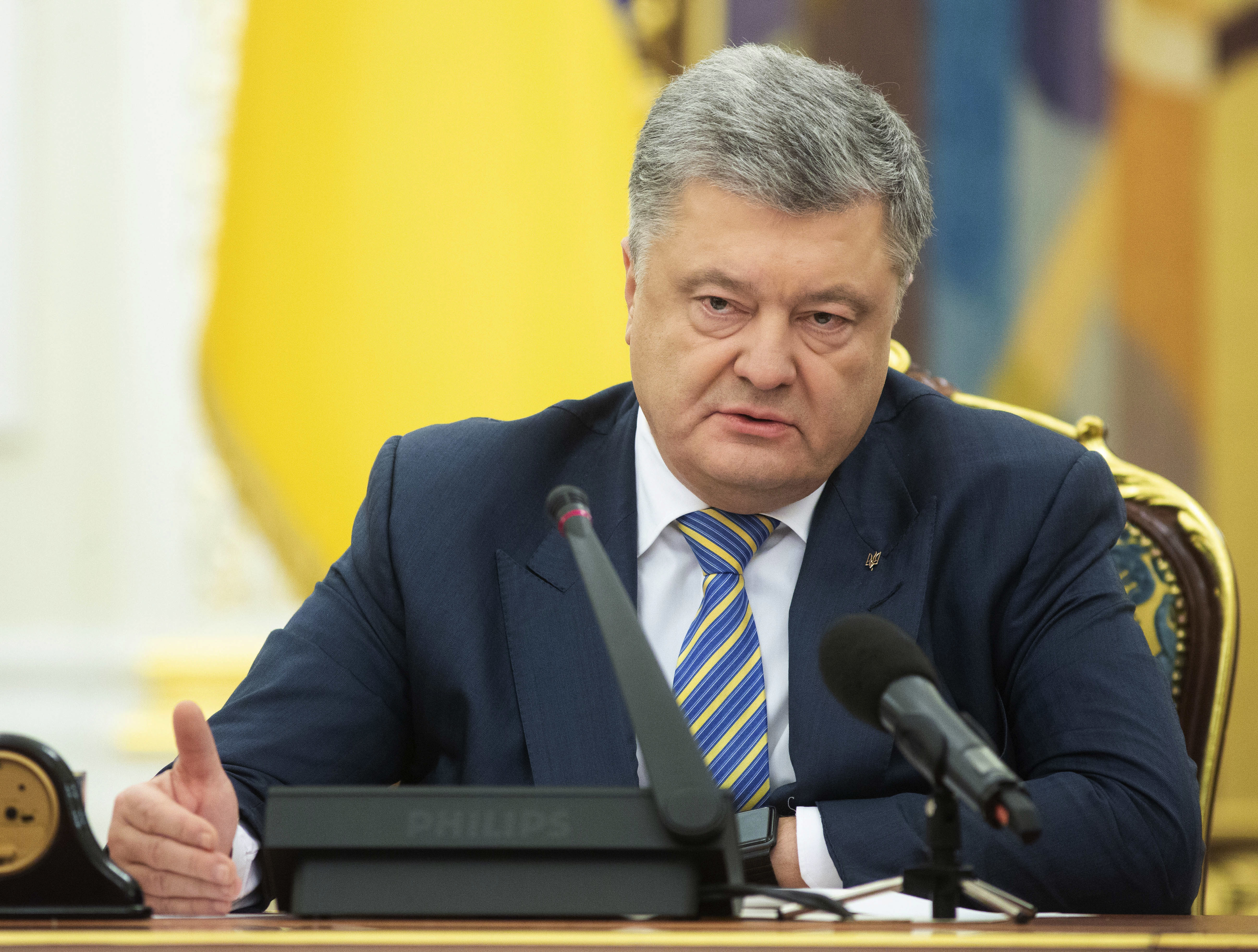 Ukrainian president proposes martial law, rules out offensive actions against Russia