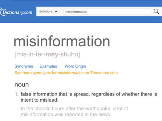 Dictionary.com chooses 'misinformation' as word of the year
