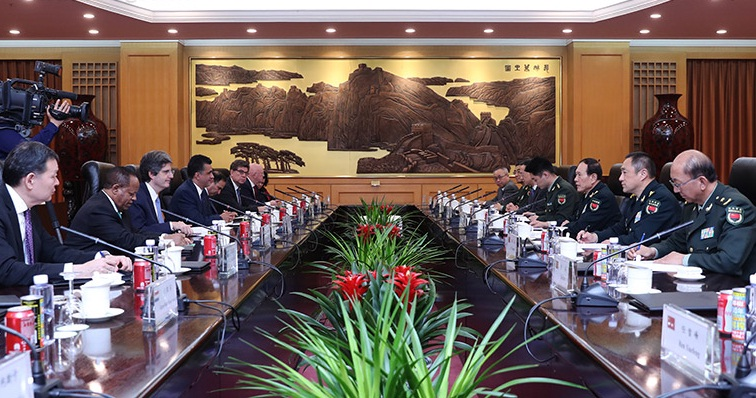 Chinese defense chief meets representatives delegation of UNSC members