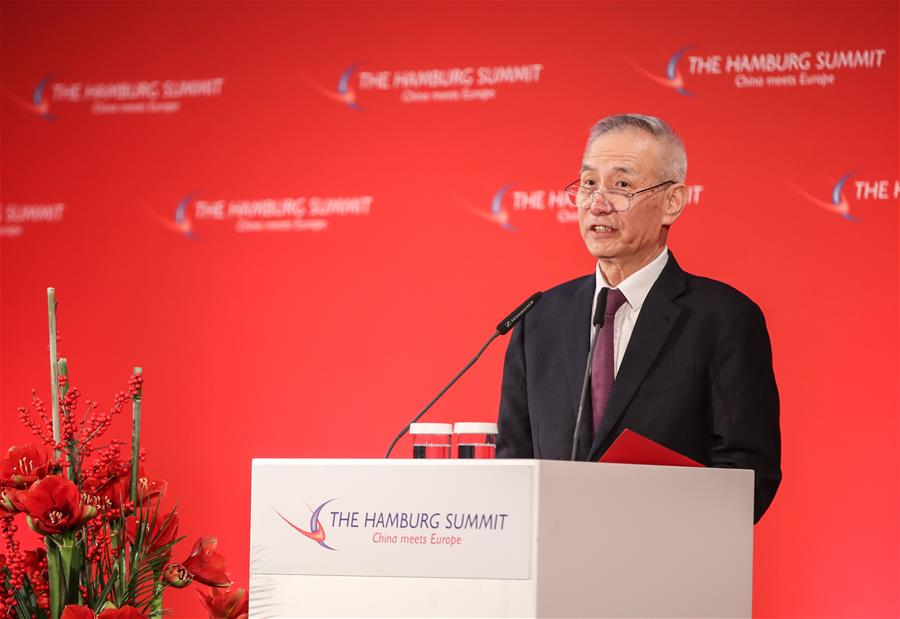 China wants more cooperation with Hamburg: vice premier