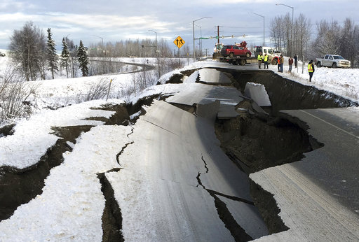 Back-to-back earthquakes shatter roads and windows in Alaska
