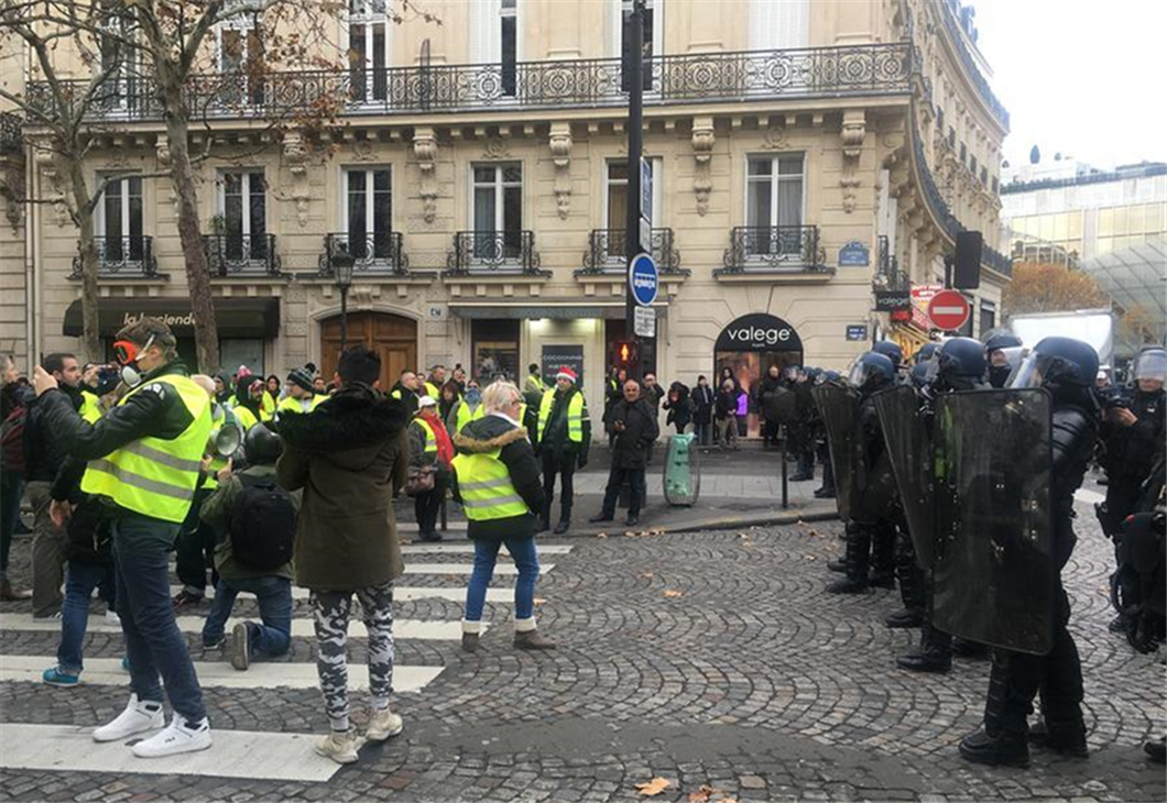 French police deployed amid new round of protests over taxes