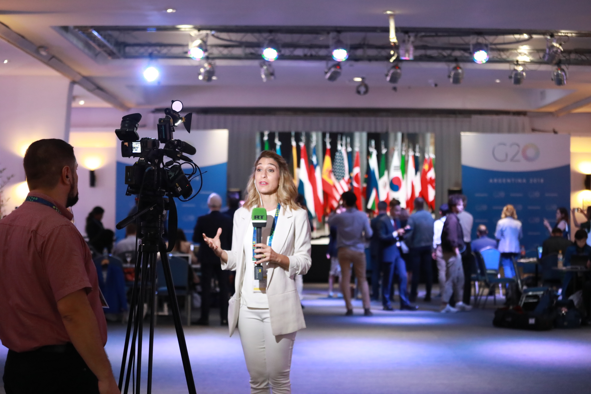 A glimpse into the media center at G20 summit