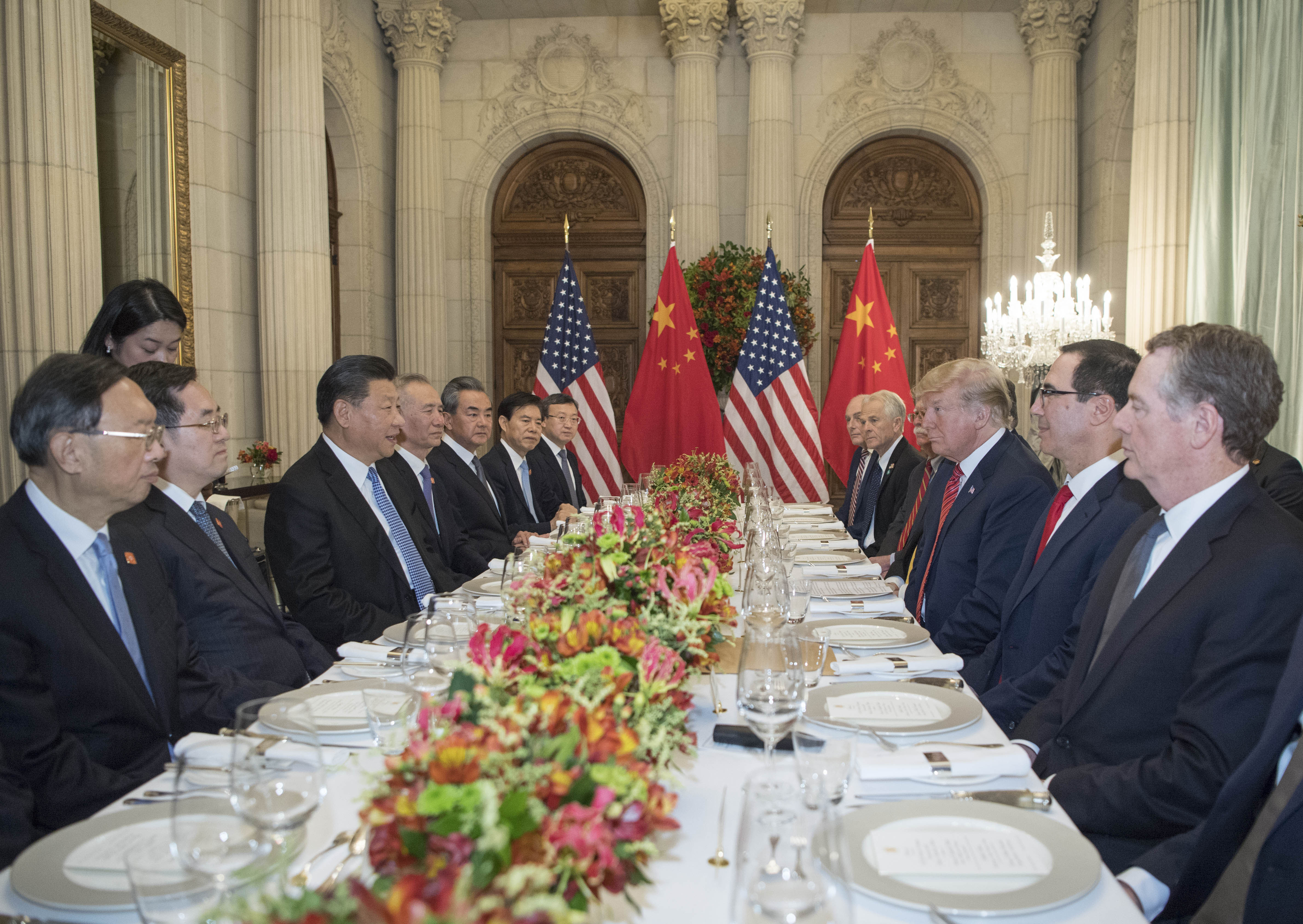 Xi, Trump working dinner concludes after more than two hours