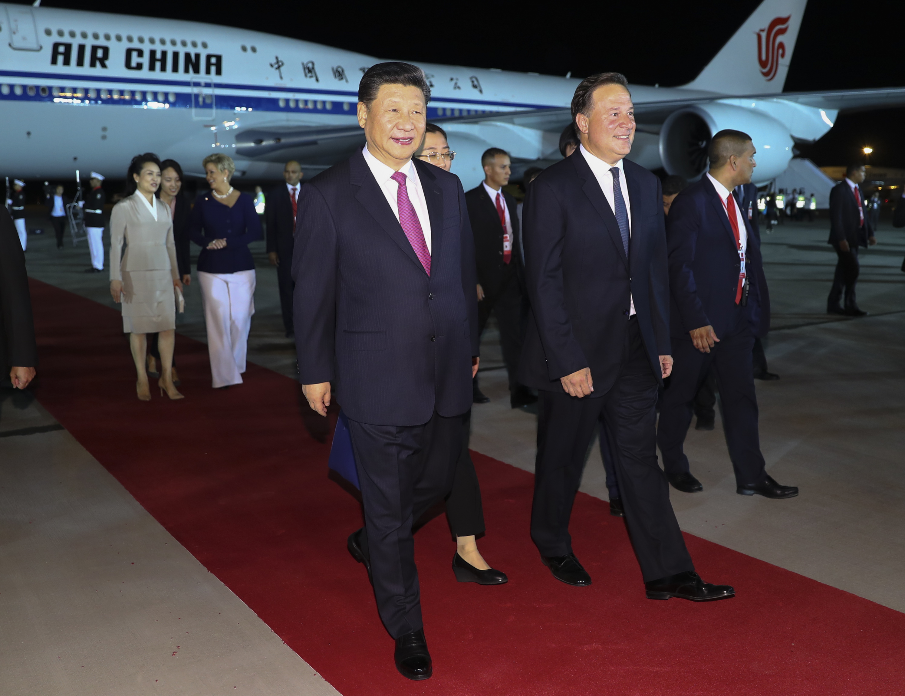 Chinese president arrives in Panama for state visit