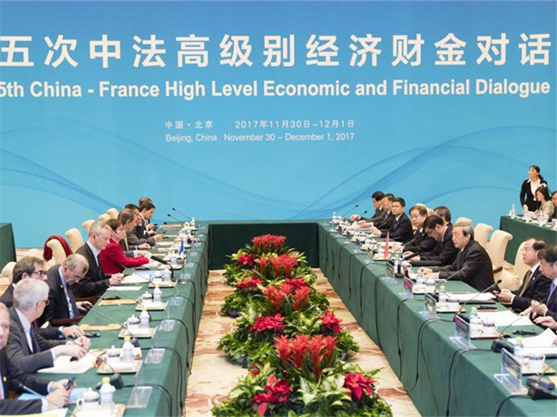 China, France to hold high-level economic, financial dialogue
