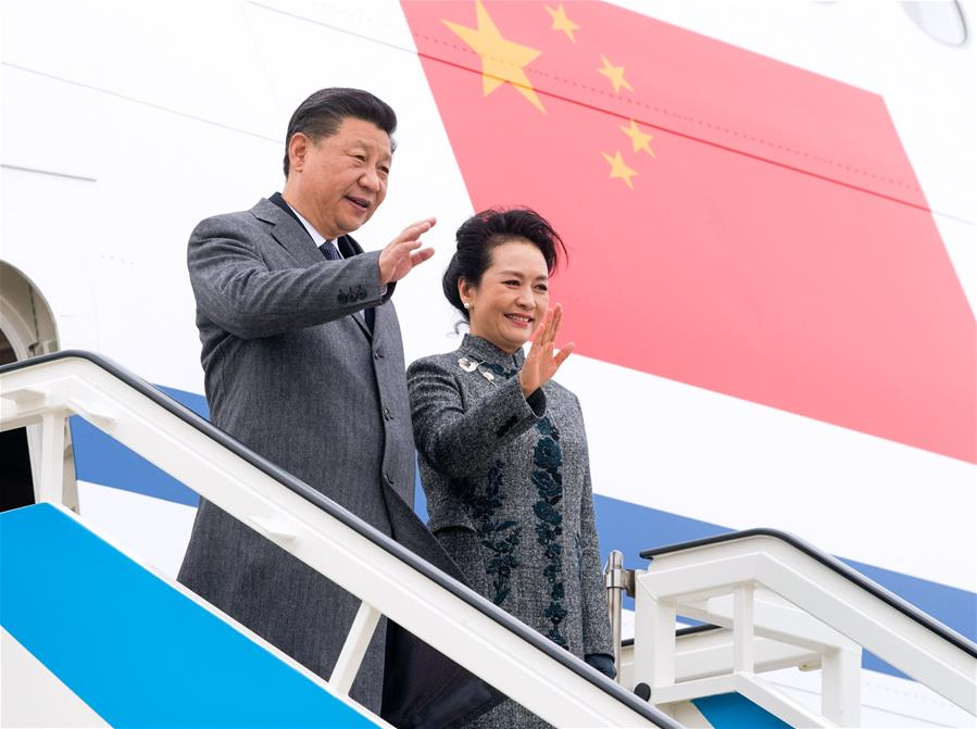 Chinese President arrives in Portugal for state visit