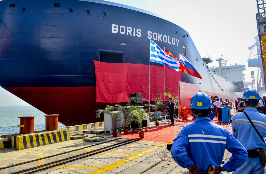 China delivers world's first Arctic condensate tanker