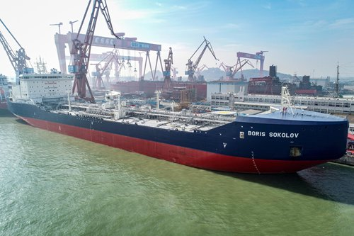Guangzhou firm builds world's first ice class condensate oil tanker