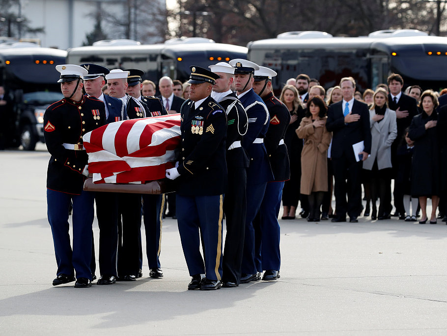 Moments from George HW Bush's state funeral