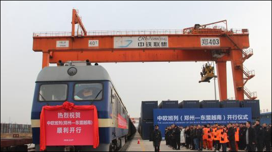 China's Zhengzhou launches freight train service to Vietnam
