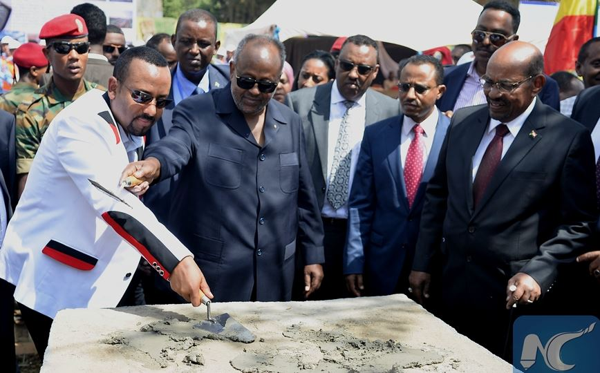 Leaders of Ethiopia, Djibouti and Sudan inaugurate Chinese-built projects in Ethiopia