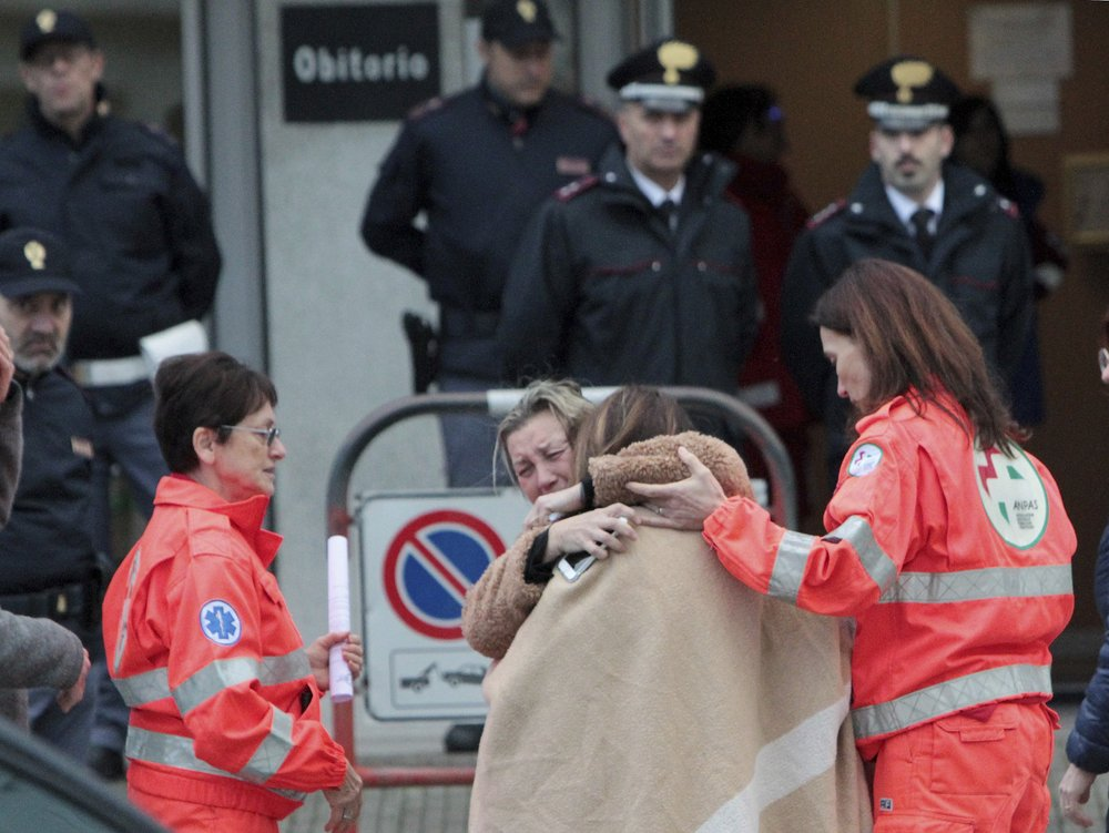 Italian police probing deadly stampede find pepper spray can
