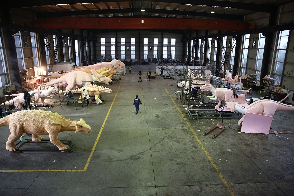 Dinosaurs made in SW China popular around the world