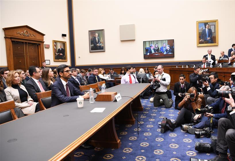 Google CEO attends hearing at U.S. House of Representatives
