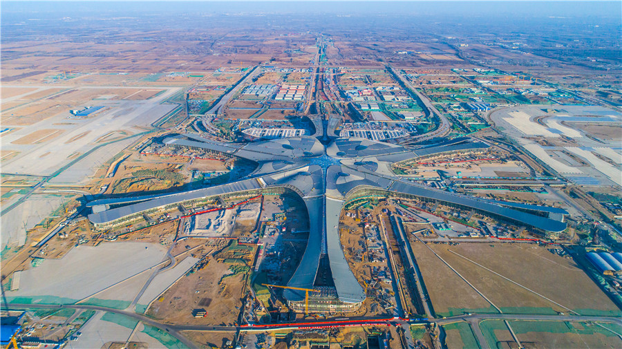 Track-laying begins for subway line to Beijing new airport