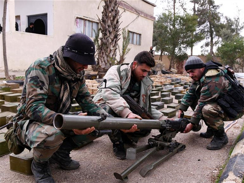 Syrian army finds weapons, ammunition in former rebel-held areas