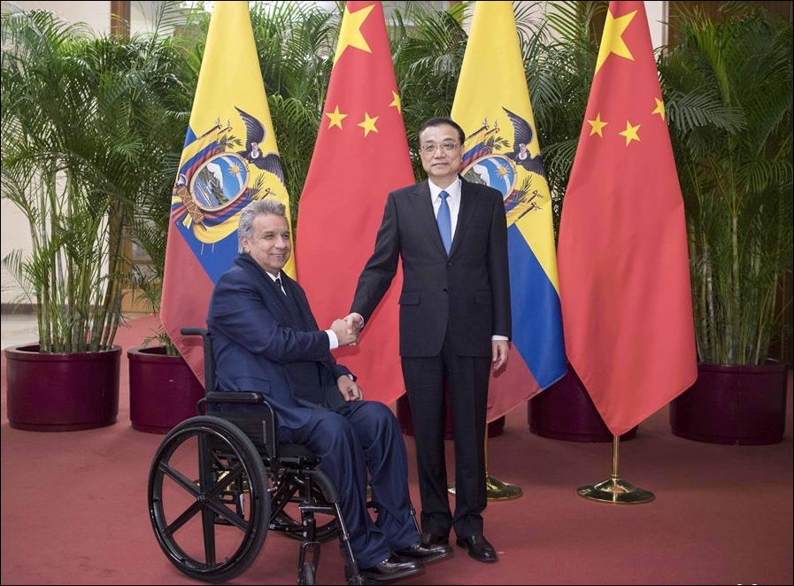 Chinese premier meets Ecuadorian president