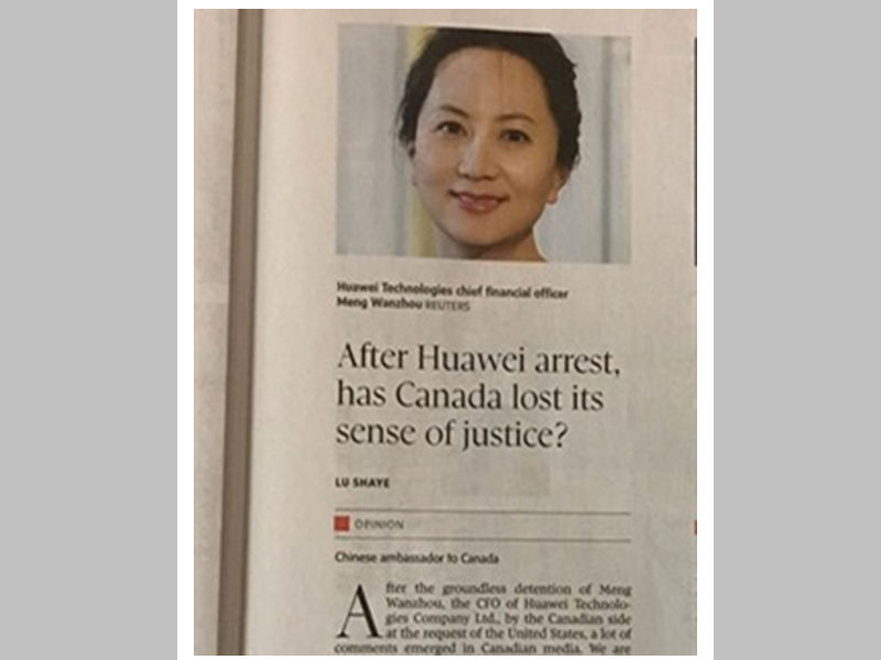 After Huawei arrest, has Canada lost its sense of justice?