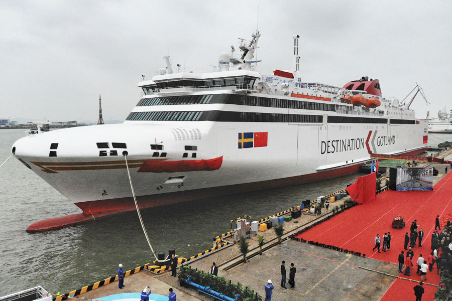 Luxury passenger ship nearly ready for delivery