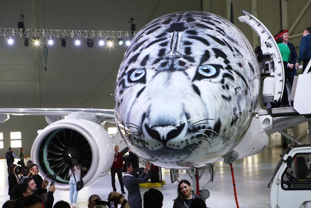 Snow leopard plane debuts in Kazakhstan