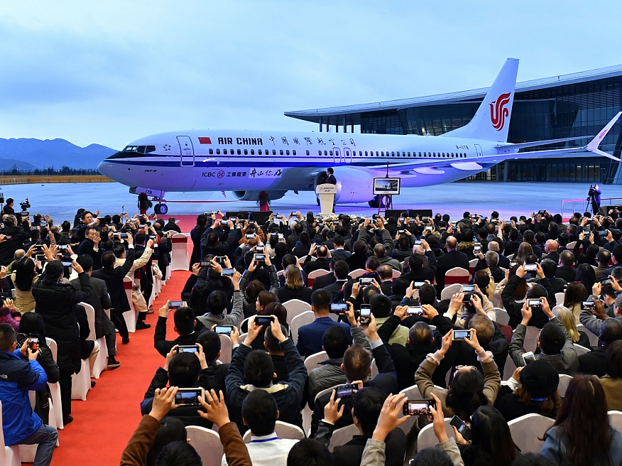Boeing delivers first plane from China plant