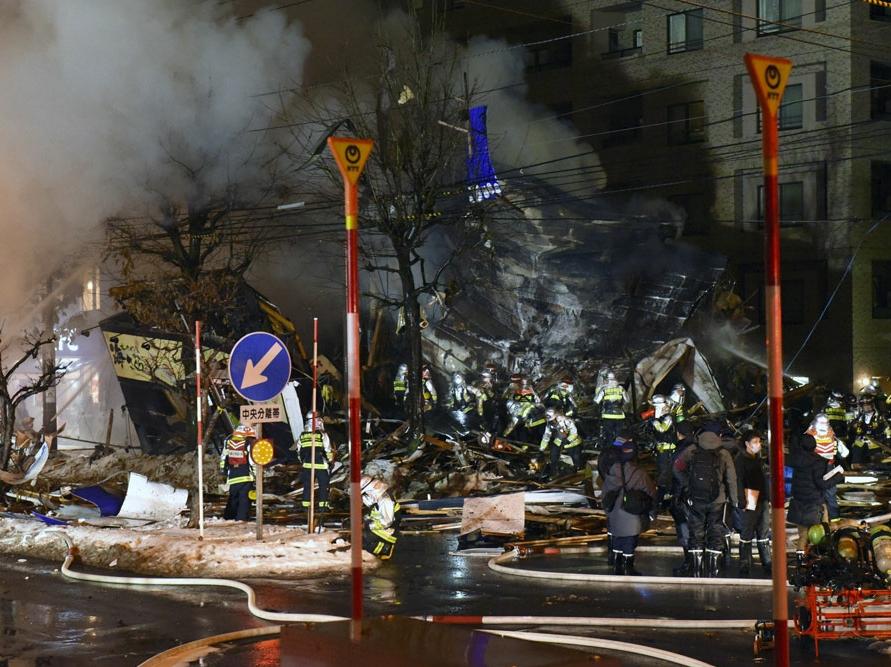 Dozens injured in pub explosion in Japan's Sapporo