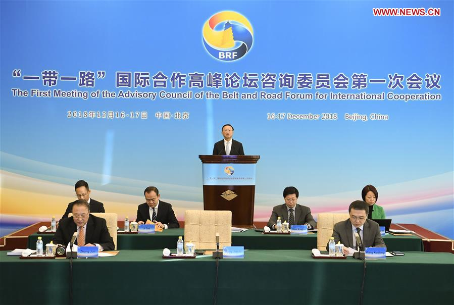 Chinese official calls for promoting B&R int'l cooperation