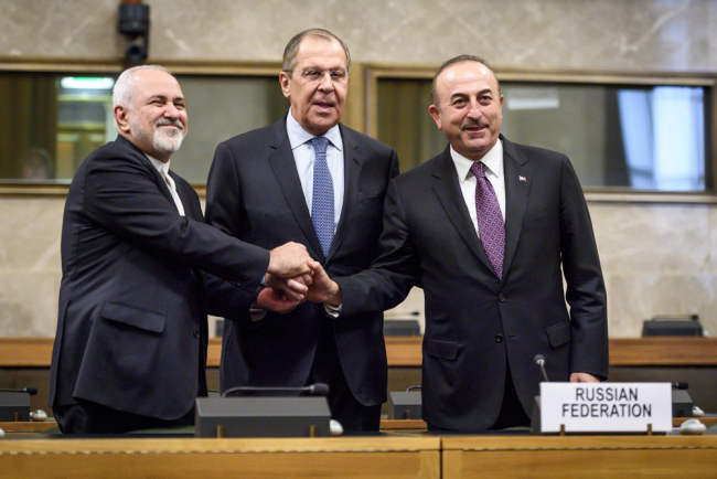 Russia, Iran, Turkey agree to make efforts at convening first Syrian constitutional body meeting early next year