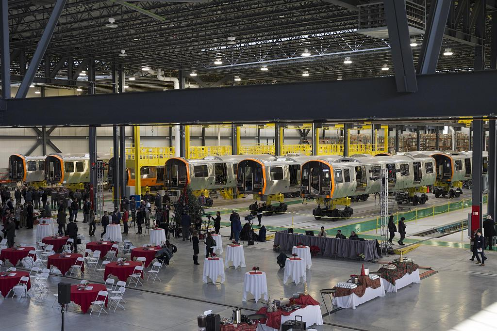 Chinese rail company completes subway cars earmarked for delivery to U.S. state of Massachusetts