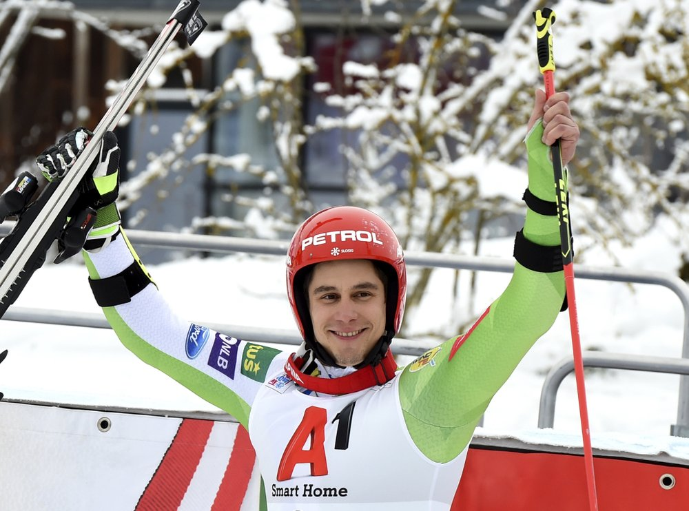 Kranjec gives Slovenian men 1st World Cup win in GS
