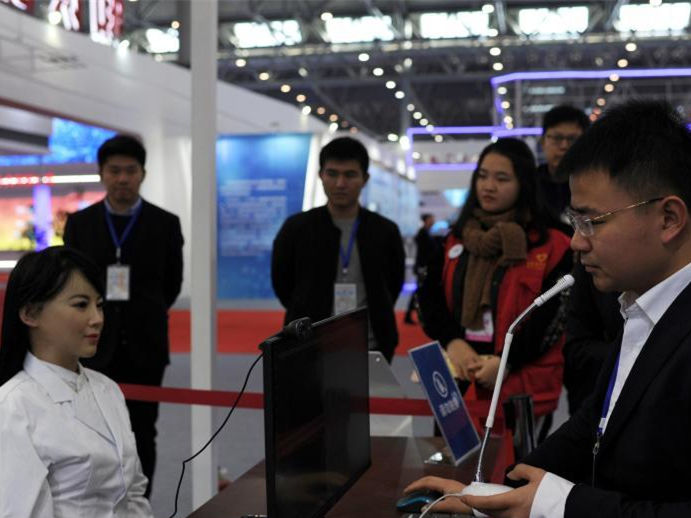 Humanoid robot Yijia debuts in exhibition