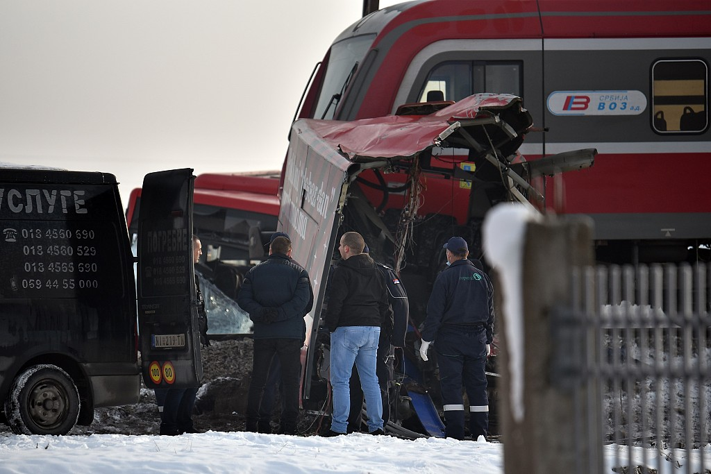 At least 5 killed, 30 injured in train-school bus collision in Serbia