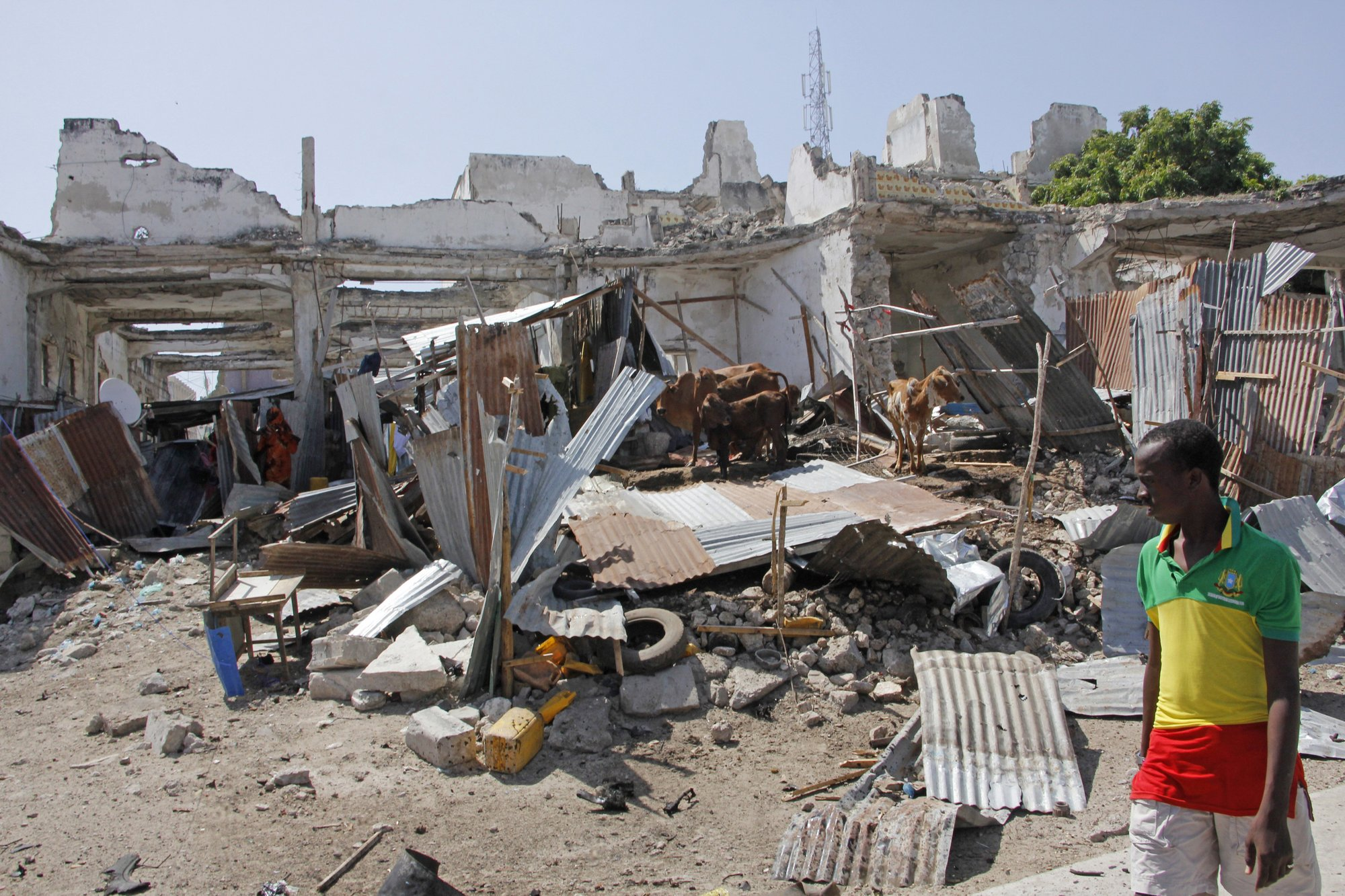 At least 8 killed in twin blasts in Mogadishu: police