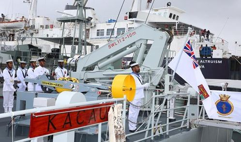 China-aided hydrographic survey vessel handed over to Fijian Navy
