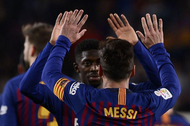 Football: Messi, Dembele keep Barca three points clear in La Liga
