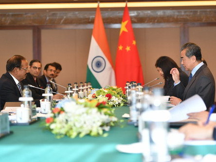 Chinese state councilor meets with Indian national security advisor